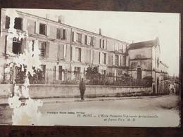Cpa De 1921, PONS, L'école Primaire Supérieure Professionnelle De Jeunes Filles, éd M.D, écrite - Pons