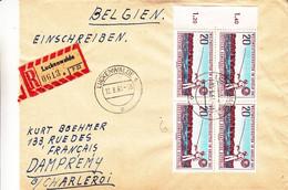 Allemagne - République Démocratique - Lettre Recom De 1961 - Oblit Luckenwalde - Pêche - Timbres Avec Chiffres - [6] Oost-Duitsland