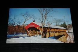 17906-             JACKSON COVERED BRIDGE IN WINTER, WHITE MOUNTAINS, NEW HAMPSHIRE - White Mountains