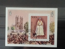 Haute Volta Bloc La Reine Elizabeth II 1977. Oblitéré. - Upper Volta (1958-1984)