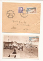 France. FDC Royan Enveloppe Plus Carte Premier Jour 3 JUIL 1954 - 1950-1959