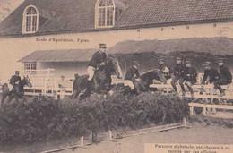 Ieper - Ypres - Ecole D'Equitation - Parcours D'obstacles - Officiers - Circulé En 1912 - Animée - TBE - Ieper