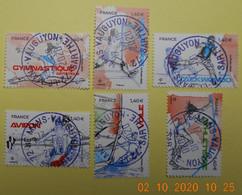 FRANCE 2020  DU  FEUILLET   SPORT   Couleur Passion     Cachets   RONDS - Used Stamps