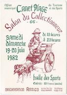 66. Gf. CANET-PLAGE. Salon Du Collectionneur 1982 - Canet Plage