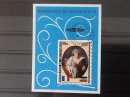 Haute Volta Bloc Europafrique. La Laitière Jean -Baptiste Greuze. Oblitéré. - Upper Volta (1958-1984)