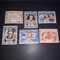 """PL2052 SAN MARINO 1947 FRANCOBOLLI DELLA SERIE ROOSEVELT SOPRASTAMPA NUOVO PREZZO 6 VALORI CON POSTA AEREA """"XX"""" - Unused Stamps"""