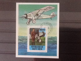 Haute Volta Bloc Histoire De L'aviation Charles Lindbergh. Oblitéré. - Upper Volta (1958-1984)