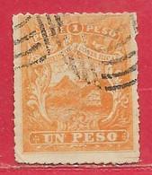 Costa Rica N°4 1P Jaune-orange 1862 (faux/forgery) O - Costa Rica