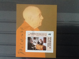 Haute Volta Bloc Pablo Ruiz Picasso 1881-1973. Oblitéré. - Upper Volta (1958-1984)