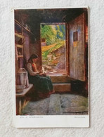 "Cartolina Pittorica ""Mütterchen"" Jos E. Hörwarter Da Ufficio Telegrafico Alfonsine Per Ravenna 1921 - Pintura & Cuadros"