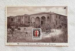 Cartolina Illustrata Tirrenia - Colonia Di Firenze, Viaggiata Da Bolgheri Per Pomarance 1944 - Otras Ciudades