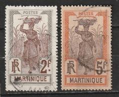 Martinique N° 76, 77 - Usati