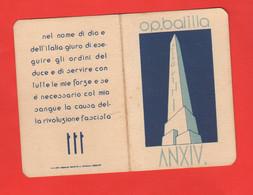 Ghedi Brescia Tessera BALILLA Figli Della Lupa ONB Anno XIV - 1936 - Documentos Históricos