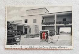 Cartolina Illustrata Tirrenia - Colonia Dei Fasci Italiani All'estero, Viaggiata Da Bolgheri Per Pomarance 1944 - Otras Ciudades