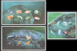 C868 !!! IMPERFORATE GUYANA MARINE LIFE TROPICAL TREASURES OF THE SEA 3KB MNH - Vita Acquatica