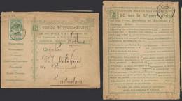 """Fine Barbe - N°56 Sur Enveloppe Illustrée Obl Simple Cercle """"Bruges"""" (1898) > Amsterdam / Steendrukkerij,... - 1893-1900 Barbas Cortas"""