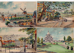 LOT 15 CP - Illustrateur Lucien BAUBANT - PARIS - édit. M. Barré Et J. Dayez - Andere Zeichner