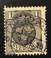 Sverige/Sweden 1 Ore 1912 Coat Of Arms - Oblitérés