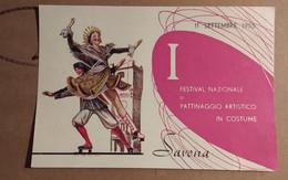 1 FESTIVAL PATTINAGGIO ARTISTICO IN COSTUME  SAVONA  1955 - Kunstschaatsen