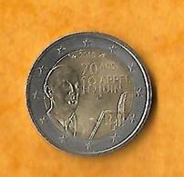 PIECE 2 DEUX EUROS CHARLES DE GAULLE -  2010 -  70 ANS APPEL DU 18 JUIN  1940-  MONNAIE FRANCE EUROS - Frankrijk