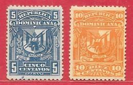 Dominicaine N°80 & 81 Armoiries 1895 (*) & * - Dominican Republic