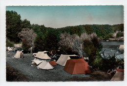 - CPSM SAVONNIERES (37) - Le Camping Au Bord Du Cher - Editions GABY N° 4 - - Other Municipalities