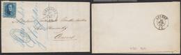 Médaillon Dentelé - N°15 Sur LAC Obl Pt 169 çàd Harlebeke (1864) > Anvers / Planche I N°283 - 1863-1864 Medaillons (13/16)