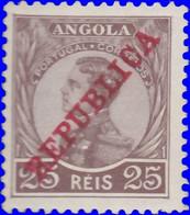 Angola 1912. ~  YT 107* - 25 R. Manuel II - Angola