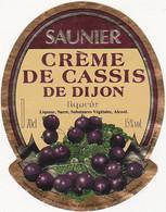 Etiquette Crème De Cassis De Dijon - Liqueur - SAUNIER - Fruits & Vegetables