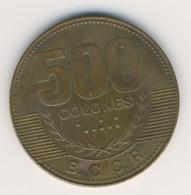 COSTA RICA 2007: 500 Colones, KM 239.1a - Costa Rica