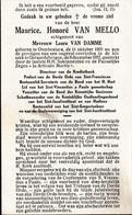 Overboelare, Geraardsbergen: 1957, Maurice Van Mello, Van Damme, Ongeval - Andachtsbilder
