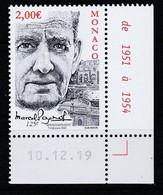 Monaco 2020 : LUXE !!! - N° 3226 - 125ème Anniversaire De La Naissance De Marcel Pagnol - Neuf**- En Coin Daté - - Ungebraucht