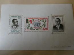 MALI  BF 1960 Admission à L'ONU Présidents Mamadou Konaté Et Modibo Keita (F) ** Postfrisch LUXE MNH ** - Mali (1959-...)