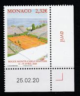 Monaco 2020 : LUXE !!! - N° 3231 - Rolex Monte-Carlo Master - Neuf** - En Coin Daté - - Ungebraucht