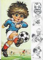 ILLUSTRATEUR MICHEL THOMAS GAMINS A L'ATTAQUE C/100 N° 48 EDIT. PRAM FOOTBALL - Thomas
