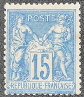 France - Yvert N°90 Neuf * - 1876-1878 Sage (Tipo I)
