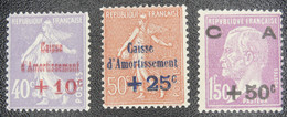 France - Yvert N°249/251 Neuf * - Non Classificati