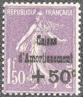 France - Yvert N°268 Neuf * - 1906-38 Semeuse Con Cameo