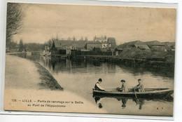 59 LILLE Carte RARE  Pont Hippodrome Partie De Canotage Sur Deule  1910- Edit A .T 126  D19 2020 - Lille
