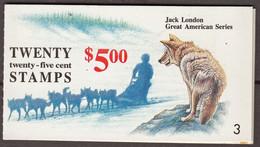 Test Booklet, Test Stamp, Specimen TDB 36 Probedruck Jack London 1988 - 1990 - 1981-...