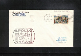 USA 1971 Space / Raumfahrt Apollo 15 NASA Station Patrick Air Force Base  Interesting Signed Letter - United States