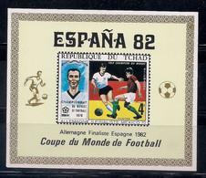 TCHAD 1982 - CAMPEONATO DEL MUNDO DE FUTBOL ESPAÑA-82 - NO DENTADA - IMPERFORATED -SURCHARGED FINALISTE - 1982 – Espagne