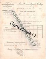 03 0028 COMMENTRY MONTLUCON 1892 Port Mines De Commentry Montvicq Fourchambault Torteron Imphy La Pique - 1800 – 1899