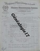07 0533 ANNONAY GROSBERTY BOULIEU LES ANNONAY  ARDECHE 1919 Papiers Mecaniques Main MONTGOLFIER  Usine PUPIL A BAILLET - Drukkerij & Papieren