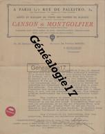 07 0554 VIDALON LES ANNONAY LE HAUT BAS ARDECHE 1932 Papiers CANSON MONTGOLFIER  USINE DE PUPIL A Docteur MASQUIN - 1900 – 1949