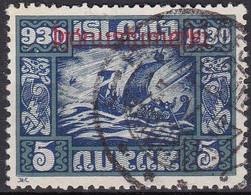 IS532 – ISLANDE – ICELAND – OFFICIAL – 1930 – PARLIAMENT MILLENARY – SG # O175 USED 42 € - Dienstzegels