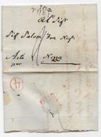 Cachet D'arrivée 4  Sur Lettre Marque 104 / TURIN 1806 Pour ASTI - 1792-1815: Dipartimenti Conquistati