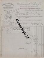 13 2628 MARSEILLE 1907 Savons Blancs Savonnerie D. LECA Cie Rue Des Picpus Et Arsenal  Agent DELACOURT A HAREL - 1900 – 1949