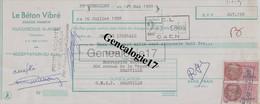 14 0354 FEUGUEROLLES SUR ORNE CALVADOS 1958 LE BETON VIBRE Des Ets GUILLOU HAMELIN A Rousseau - Lettres De Change