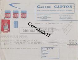 14 0368 DEAUVILLE SUR MER CALVADOS 1958 AUTOMOBILE Aronde Ariane Vedette SIMCA Station Garage CAPTON  Avenue Republique - Cars